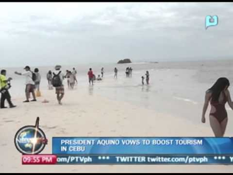 President Aquino vows to boost tourism in Cebu