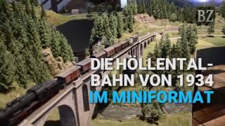 Modellbauer stellt historische Höllentalbahn von 1934 im Miniformat nach
