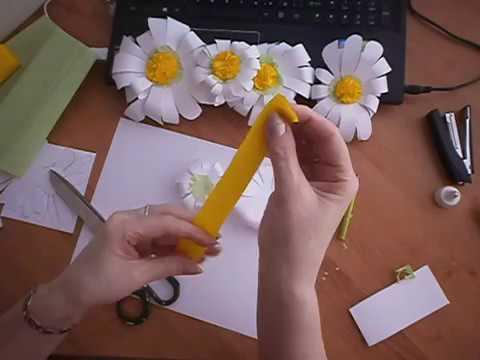 Ромашка из бумаги своими руками пошаговое фото для начинающих