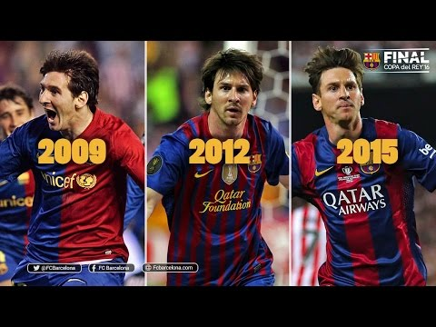 Leo Messi's goals in Spanish Cup finals