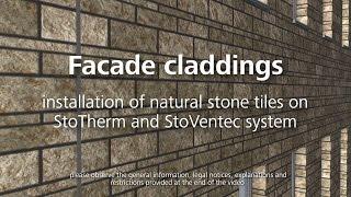 Facade cladding – installing natural stone tiles
