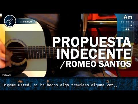 Como tocar Propuesta Indecente ROMEO SANTOS en Guitarra HD Tutorial