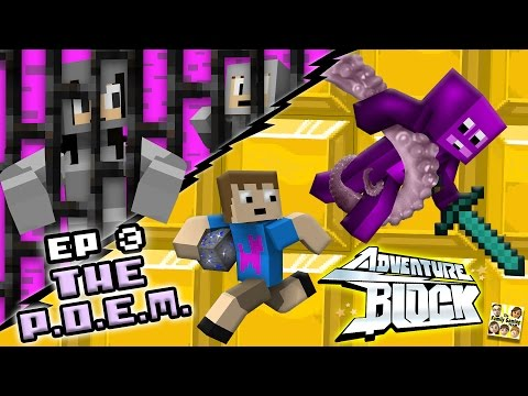 Adventure Block - Episode 3 - The P.O.E.M. of LEGO-Lantis (Season 1 | FGTEEV MINECRAFT MINI-SERIES)