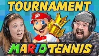 REACTOR WAR!   Mario Tennis Aces Tournament (React: Gaming)