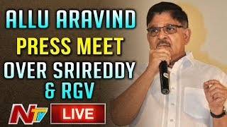 Allu Aravind Press Meet Over RGV LIVE || Sri Reddy || Pawan Kalyan || Casting Couch