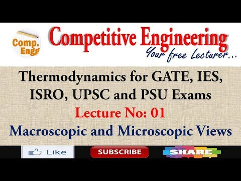 Lec-1|Thermodynamics for GATE, IES, ISRO, UPSC and PSU Exams|Macroscopic and Microscopic Views