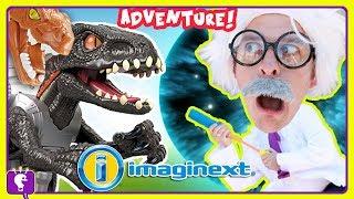 HobbyHarry Discovers Dino! 🦖 Jurassic World Adventure #2 Imaginext Toy Review HobbyKidsTV