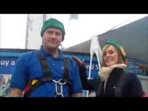 An 'elf and safety test at Weymouth Sea Life Tower - with Wessex FM!