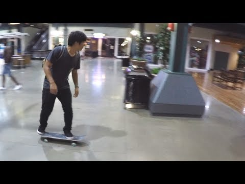 SKATEBOARDING IN A MALL!?!?