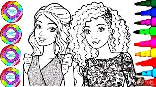 Barbie Carli Bell and Nikki Coloring Book Pages for Kids l Disney Brilliant