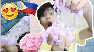 DIY CLOUD SLIME OR SNOW SLIME! COOLEST SLIME PETMALU ( PHILIPPINES) | RenielReyesTV