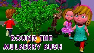 Round the Mulberry Bush Nursery Rhyme - Educational Songs for Children -  DuDu TV