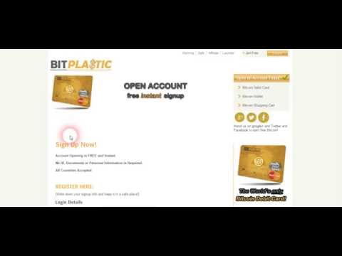 BitPlastic offers the world's ONLY Bitcoin debit card