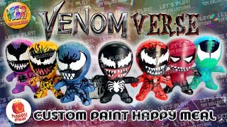 Spider-Man Into the Spider-Verse Venom Happy Meal Custom Paint toys