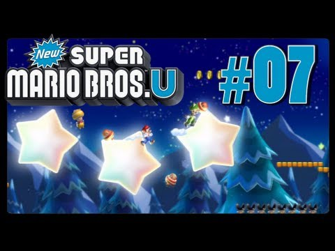 New Super Mario Bros. U - Part 7 - Frosted Glacier (Co-Op)