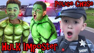 COP CAR CHASES HULK IMPOSTER GOING CRAZY!