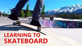 LEARNING TO SKATEBOARD EPISODE 1 - INTRO TO BASICS