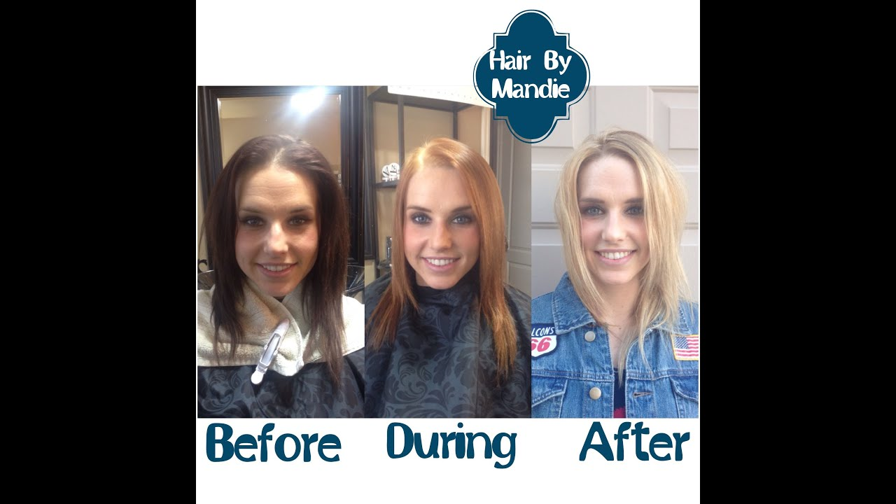 How To Lighten Your Hair From Brunette To Blonde Bleach