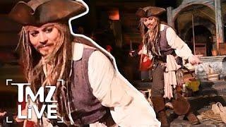 Johnny Depp: Disneyland Surprise   TMZ Live