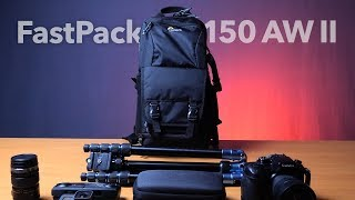 LowePro FastPack BP 150 AW II REVIEW - Best Budget Lightweight Camera Backpack for Hiking & Biking