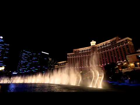 billie Jean - Michael Jackson - Bellagio Fountains Water Show - Wide Angle Hd video