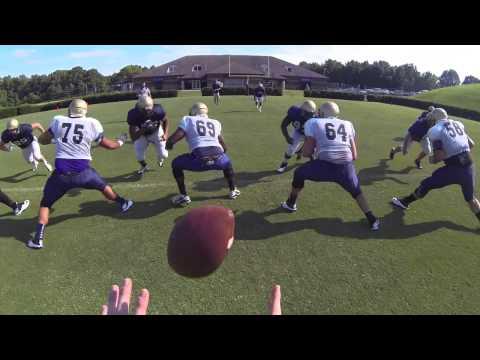 2013 Wingate Football - Helmet cam with Garrison Herndon & Austin Anthony