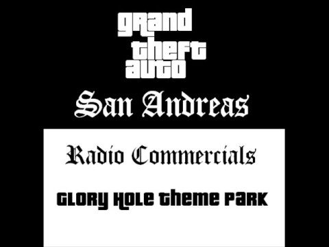 Grand Theft Auto: San Andreas - Radio Commercials (glory Hole Theme Park #1 (giant Rodent) video
