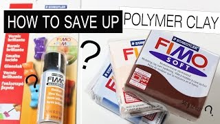 HOW TO SAVE UP POLYMER CLAY? (aluminium foil trick) Poly tips & tricks #3
