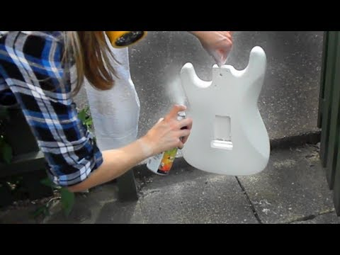 guitar project part 5 spray painting youtube. Black Bedroom Furniture Sets. Home Design Ideas