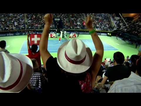 Roger Federer Hot Shot In Dubai 2014 Final