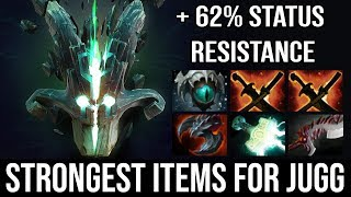 WTF + 62% Status Resistance!!! Strongest Carry Build Juggernaut Deleted Top 5 MMR Inyourdream DotA 2