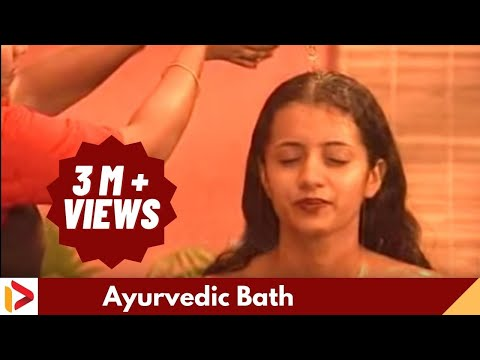 Ayurveda   Bath After Oil Massage , Trisha video