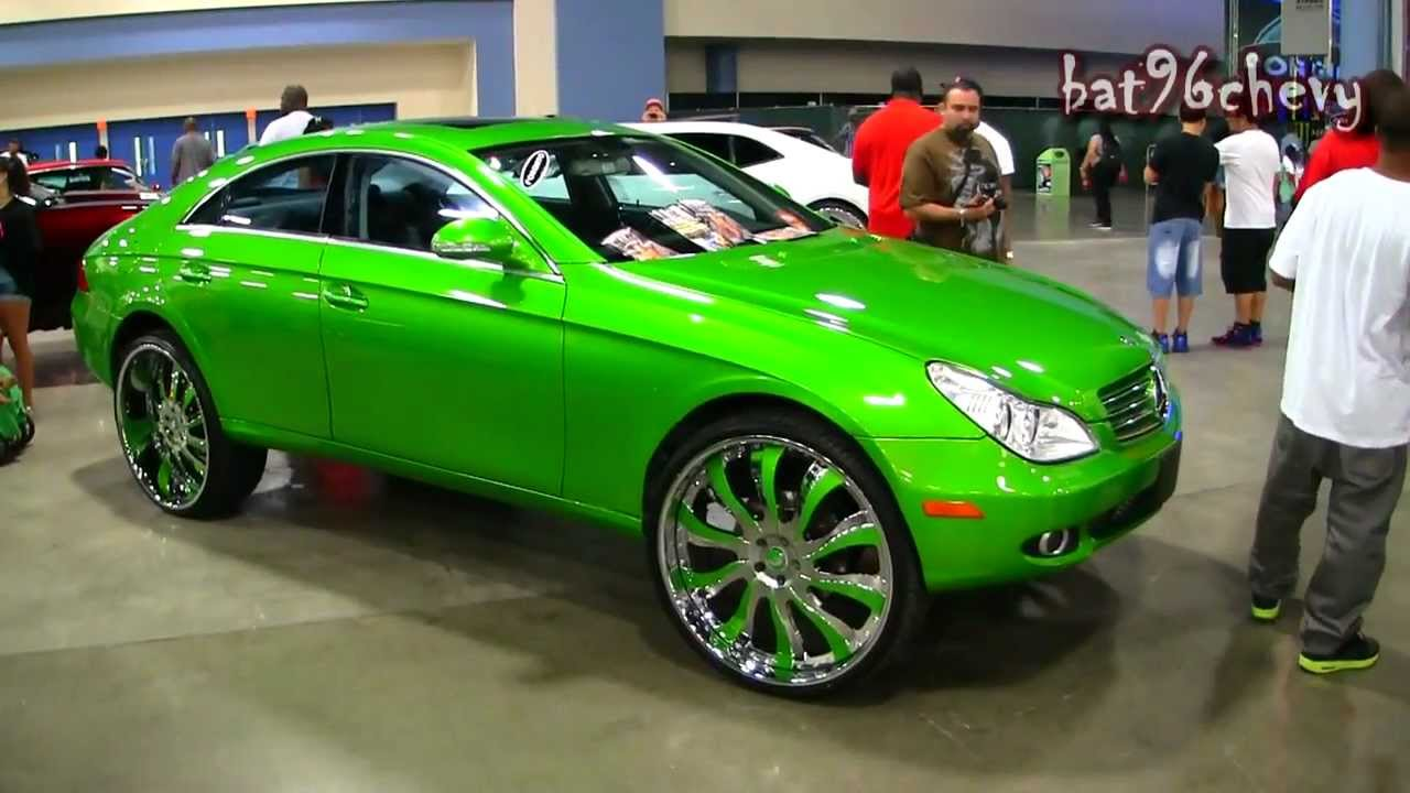 Candy Green Mercedes Benz Cls 500 On 26 Quot Forgiatos Wheels 1080p Hd Youtube