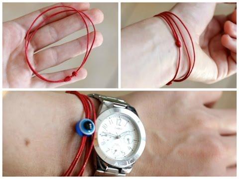 Направи си гривна с плъзгащ възел | DIY Sliding knot bracelet