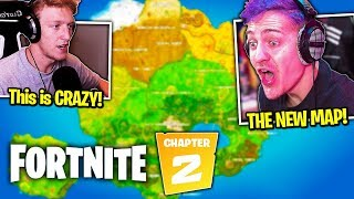 TFUE & NINJA *REVEAL* Fortnite: Chapter 2 Thoughts! (NEW MAP, BATTLE PASS & MORE!)