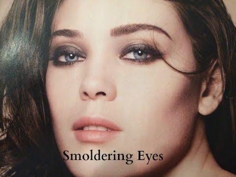Smoldering Eye Makeup Look {Grey Smokey Eye. Muted Cheeks and Lips}