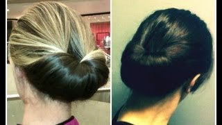 Easiest Updo Ever - the Inverted Bun/Gibson Tuck