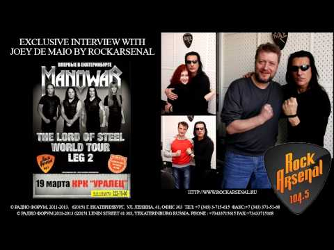Exclusive interview with Joey De Maio by RockArsenal on 104.5 FM in Yekaterinburg Russia