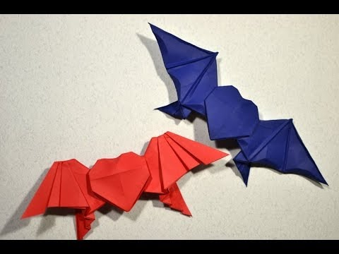 Bat Heart Origami Origami Bat-winged Heart by