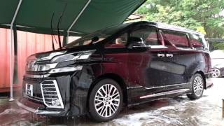 Toyota Vellfire is coated by Japan iMO 9H coating