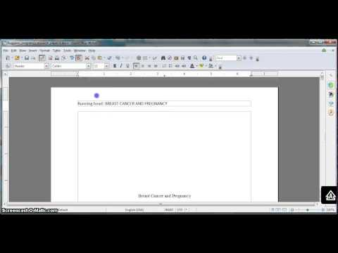 Formatting an APA research paper in OpenOffice