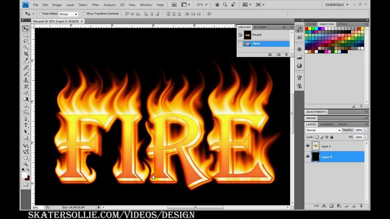 How To Make Letters Look Like Fire In Photoshop