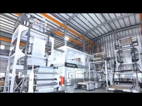 PE PP film blowing machine in Uganda
