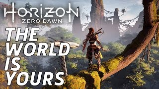 Touring The Beautiful Open World - Horizon Zero Dawn Gameplay