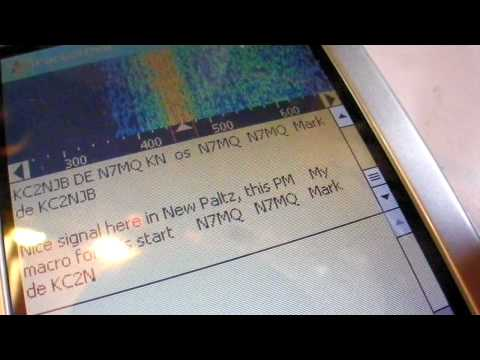 PSK31 on the ATS3B using an iPAQ 4350 and simple interface cable (rcv only)