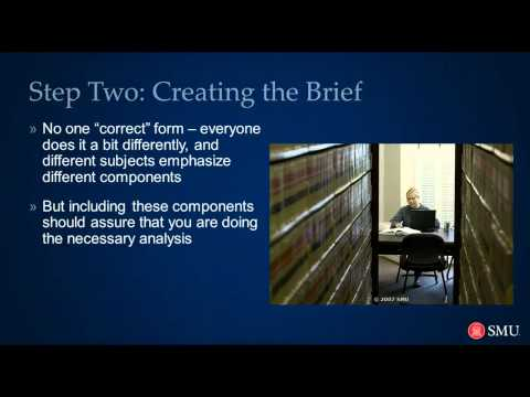 Law School: How to Brief a Case