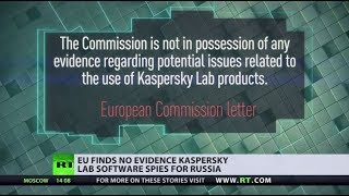 EU finds no 'evidence' Kaspersky Lab software spies for Russia, despite claims by US