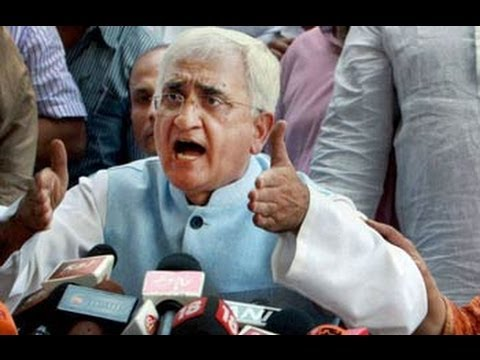 Salman Khurshid: I will also work with blood - Dares Aravind Kejriwal