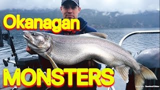 Lake Trout Fishing - 4 MONSTER Okanagan Lakers