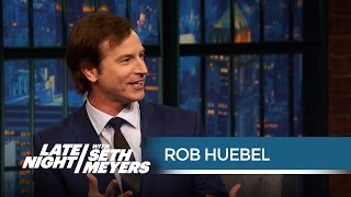 Rob Huebel on the Time Chevy Chase Slapped Him - Late Night with Seth Meyers